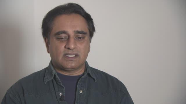 sanjeev bhaskar on being involved in more drama like 'unforgotten', reading the script for the new season at british asian trust awards - ambassador... - サンジーヴ・バスカー点の映像素材/bロール