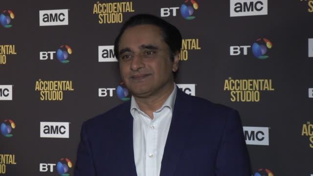 sanjeev bhaskar on march 27, 2019 in london, united kingdom. - サンジーヴ・バスカー点の映像素材/bロール