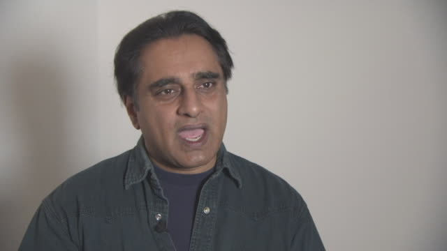 sanjeev bhaskar on prince charles being involved in the charity, where the idea came from, the support the charity gives at british asian trust... - サンジーヴ・バスカー点の映像素材/bロール