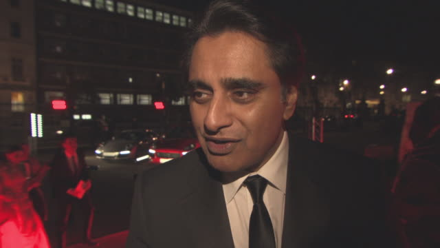 sanjeev bhaskar on the work the charity does, diveristy in the media at the prince's charity, the british asian trust gala dinner at the natural... - サンジーヴ・バスカー点の映像素材/bロール