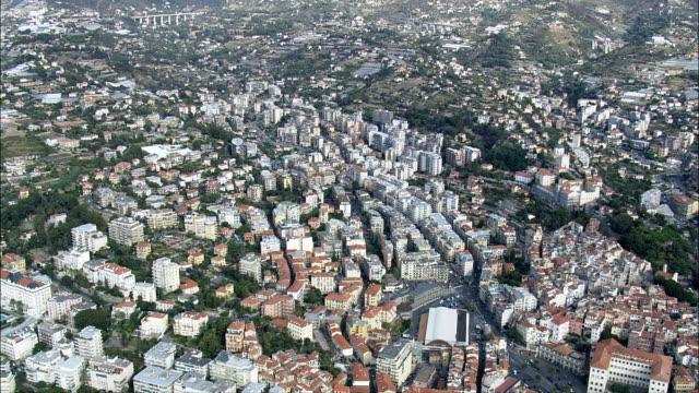 sanremo - aerial view - liguria, provincia di imperia, san remo, italy - remo stock videos and b-roll footage