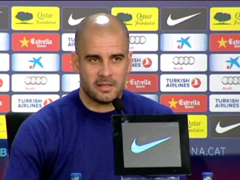 sant joan despi 25 feb barcelona's coach josep guardiola still holds to the chance of winning the spanish liga although he admits it will be... - game of chance stock videos & royalty-free footage