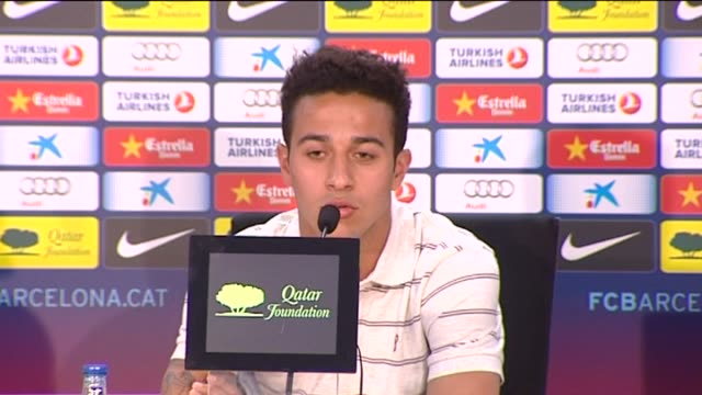 sant joan despi , 8 may .- barcelona footballer thiago alcantara spoke to the press on tuesday about his desire to play at euro 2012 and the olympic... - desire stock videos & royalty-free footage