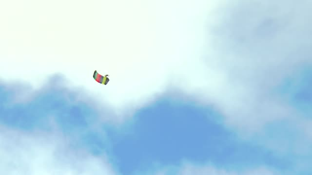 santa and his elves arrive by parachute in quincy ma only one elf sticks the landing the other elves and santa crash into the trees santa ends up... - elf stock videos & royalty-free footage
