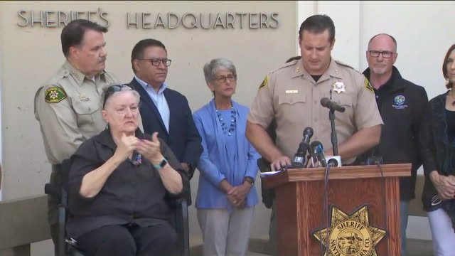 ktla – santa barbara ca us news conference after boat caught fire and sank near santa cruz island with 34 people presumed dead on monday september 2... - channel islands california stock videos & royalty-free footage