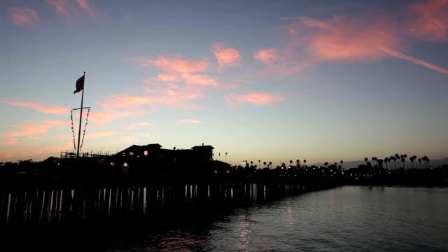 santa barbara pier - hd video - santa barbara california stock videos and b-roll footage