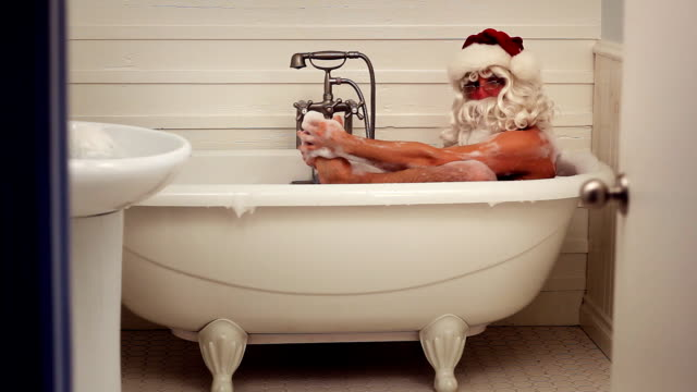 santa bath - bathtub stock videos & royalty-free footage
