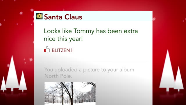 santa checks updates his status - mrs claus stock videos and b-roll footage
