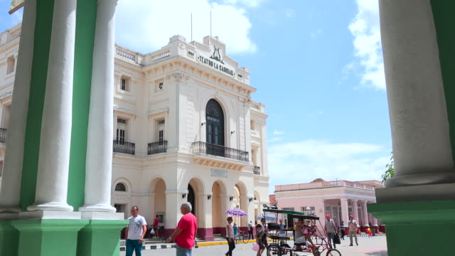 santa clara, cuba: charity theatre or 'teatro la caridad' which is famous place and tourist attraction in the city - landmark theatres stock videos & royalty-free footage