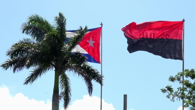 santa clara, cuba: cuban revolution symbols in the 'capiro hill' or 'loma del capiro' - one tree hill stock videos and b-roll footage