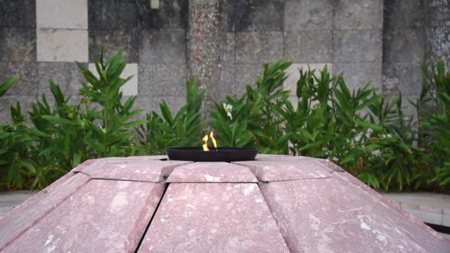 Santa Clara, Cuba: Eternal Flame lit by Fidel Castro in October 1997 in the Che Guevara Sculptural Complex