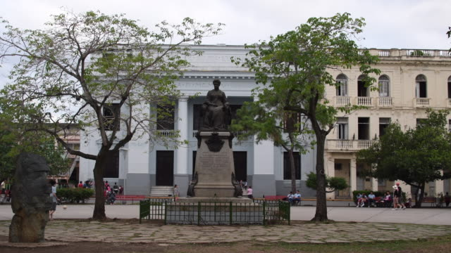 Santa Clara, Cuba: Marta Abreu statue in the Leoncio Vidal town square or plaza. The area is a Cuban national monument and tourist attraction