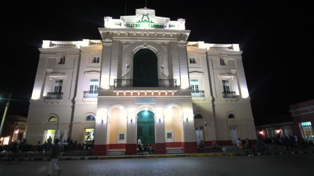 Santa Clara, Cuba: The Charity Theater at night