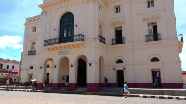 santa clara, cuba: the charity theatre or 'teatro la caridad' - landmark theatres stock videos & royalty-free footage