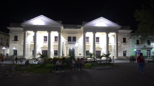 Santa Clara, Cuba: The 'Jose Marti' public library at night