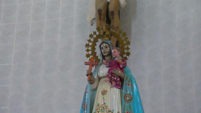 santa clara, cuba: virgin of charity of 'el cobre' - religious symbol stock videos & royalty-free footage