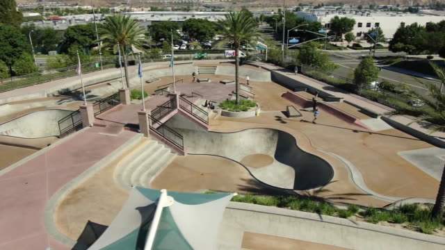 ktla santa clarita california us drone aerial of santa clarita skate park on monday july 29 2019 - santa clarita stock videos & royalty-free footage