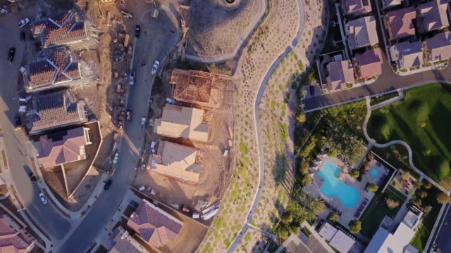 santa clarita construction - aerial view - housing development stock videos & royalty-free footage