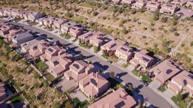 santa clarita suburbs- aerial view - santa clarita stock videos & royalty-free footage