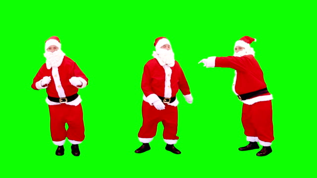 santa claus dancing. green screen. - green background stock videos & royalty-free footage