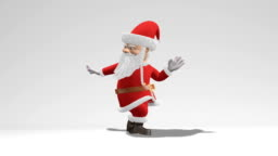 Santa Claus dancing. The concept of Christmas and New Year. Seamless Loop.