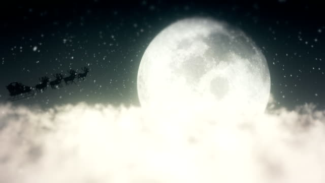 santa claus flying above the clouds - snow cornice stock videos and b-roll footage
