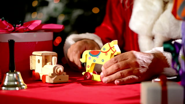 santa claus make toys - father christmas stock videos and b-roll footage