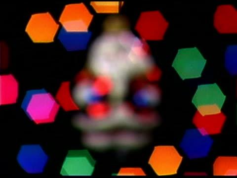 santa claus ornament - aufblenden stock-videos und b-roll-filmmaterial