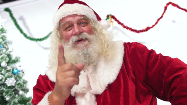 santa claus pointing with finger to naughty child - slow motion - mischief stock videos & royalty-free footage