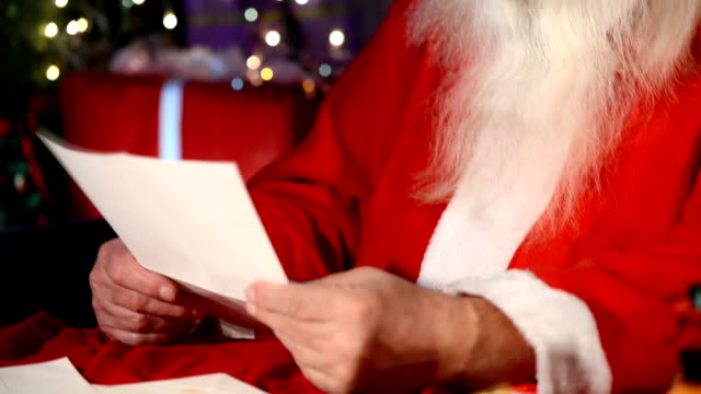 santa claus read letters - reading mail stock videos & royalty-free footage