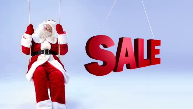 santa claus, sale - only senior men stock videos and b-roll footage