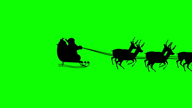 santa claus silhouette - sledge stock videos & royalty-free footage