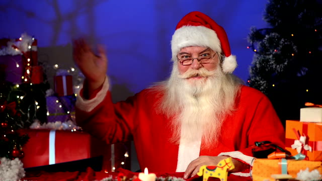 santa claus - christmas stocking stock videos and b-roll footage