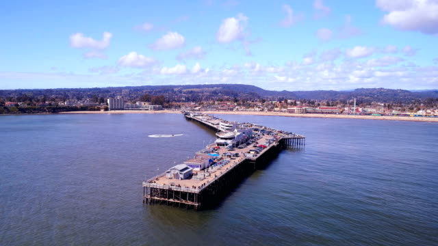 santa cruz pier - santa cruz california stock videos and b-roll footage