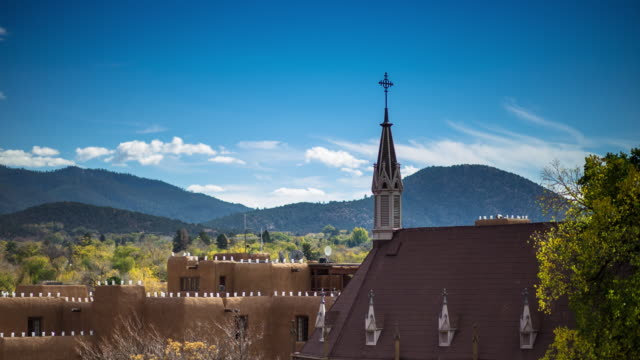 santa fe buildings - adobe material stock videos and b-roll footage