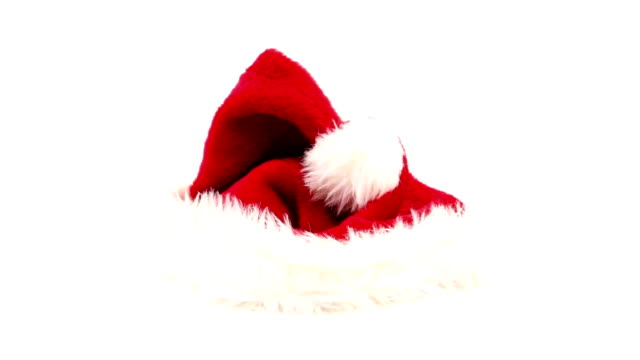 santa hat - santa hat stock videos & royalty-free footage