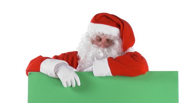 hd: santa is sleepy - tired stock videos and b-roll footage