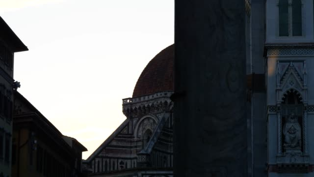 santa maria del fiore cathedral facade, in the morning light, florence, italy - fiore stock videos & royalty-free footage