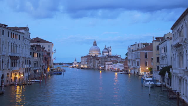 Santa Maria della Salute in Venice, Italy at night