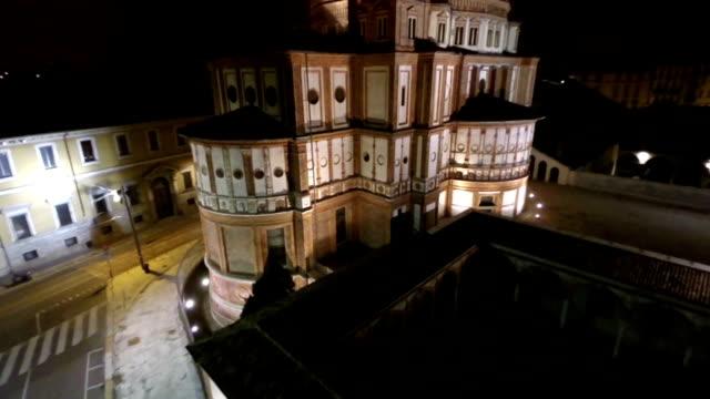 santa maria delle grazie, milan - cathedral stock videos & royalty-free footage