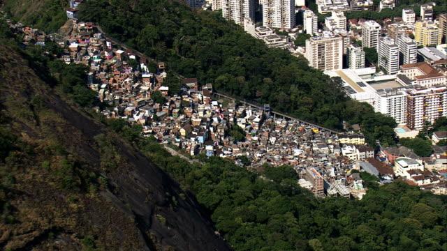 Babbo Marta-Vista aerea Favela in Rio de Janeiro, Rio de Janeiro, Brasile
