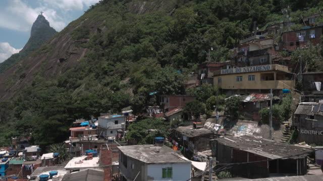 santa marta's hill / slum view - christentum stock-videos und b-roll-filmmaterial