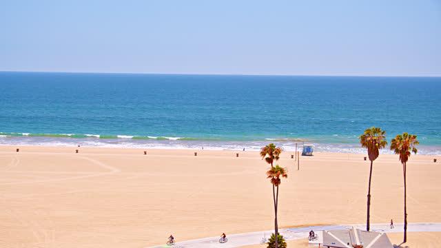 santa monica beach. los angeles - santa monica stock videos & royalty-free footage