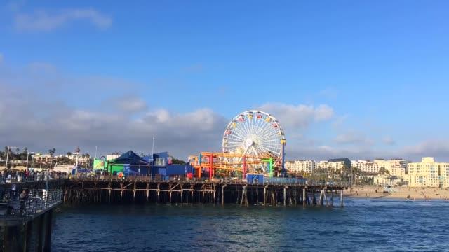 サンタ モニカー ビーチ - 時間の経過、ロサンゼルス、アメリカ合衆国