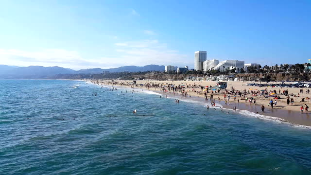 santa monica beach - santa monica stock videos & royalty-free footage
