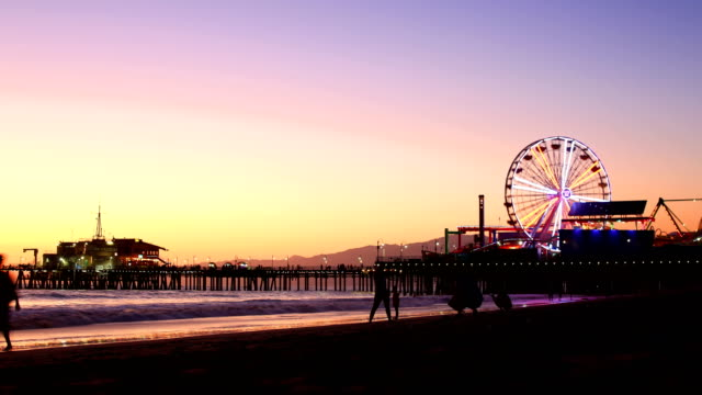 santa monica, ca - santa monica pier stock videos & royalty-free footage