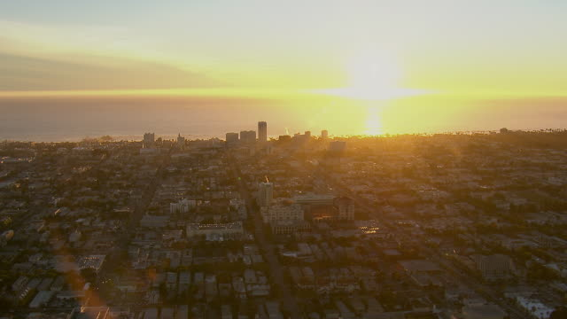 santa monica california at sunset - santa monica stock videos and b-roll footage