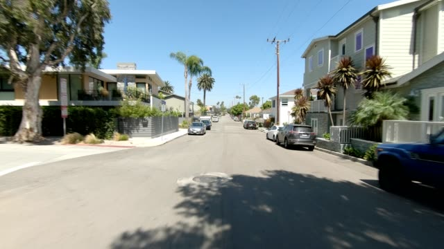 santa monica i synced series rear view driving process plate - santa monica house stock videos & royalty-free footage