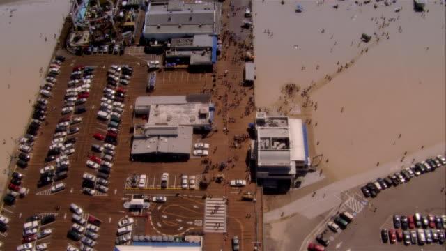 aerial santa monica pier, santa monica, california, usa - santa monica pier stock videos & royalty-free footage