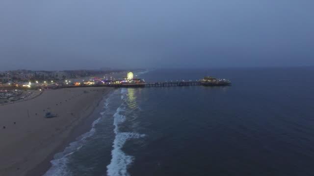 Santa Monica Pier Sonnenuntergang Antenne